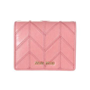 Miu Miu Shine Patched Snap Button Wallet