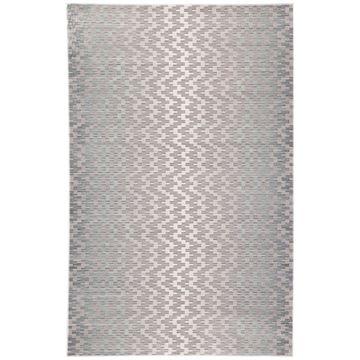 Juniper Home Dionyza Light Grey/Aqua Chevron Area Rug - 4' x 6'