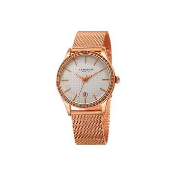 Akribos XXIV Womens Rose Goldtone Bracelet Watch-A-967rg