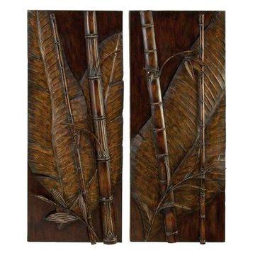 Decmode Metal Wall Decor, Brown