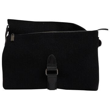 Issey Miyake Black Cloth Clutch Bag