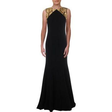 Theia Womens Metallic Formal Evening Dress