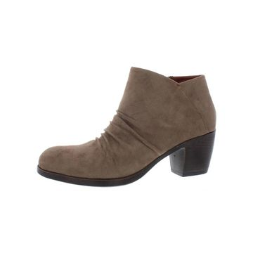 B.O.C. Womens Ankle Boots Faux Suede Stacked Heel