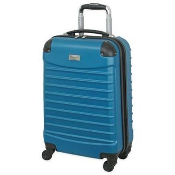Geoffrey Beene 20-Inch Hardside Wheeled Carry On in Teal
