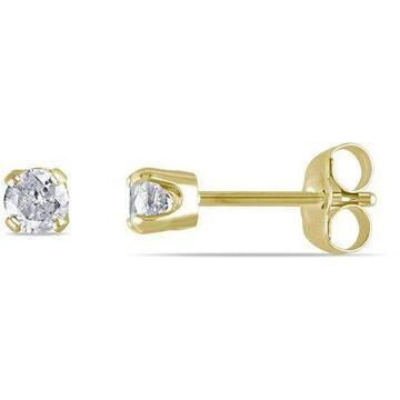 1/3 Carat T.W. Diamond 14kt Yellow Gold Solitaire Stud Earrings