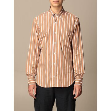 Eleventy shirt in striped poplin
