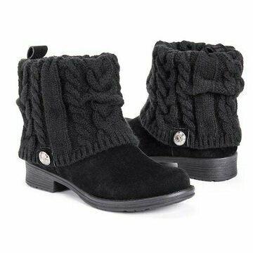 NEW Muk Luks Womens Cass Winter Boots - Black - Size: 8
