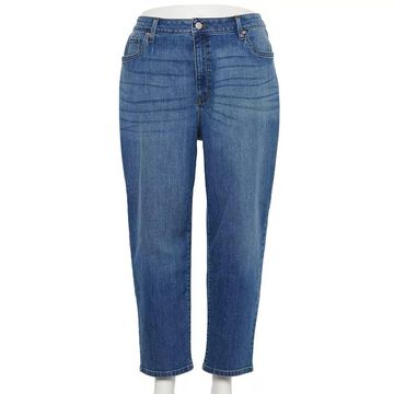Plus Size Sonoma Goods For Life Premium Mom Jeans, Women's, Size: 26 Tall, Med Blue