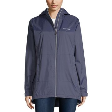 Columbia Switchback Long Lined Hooded Waterproof Midweight Raincoat