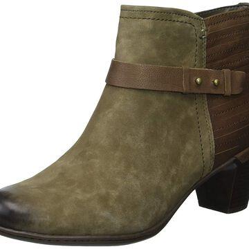 Cobb Hill Womens Rashel Buckle Suede Almond Toe Ankle