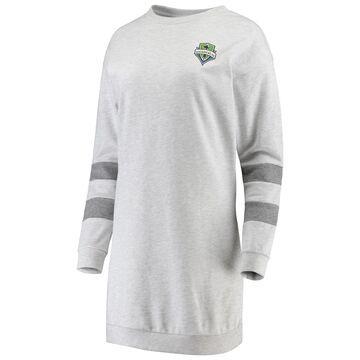 Women's ZooZatz Gray Seattle Sounders FC Sweatshirt Dress