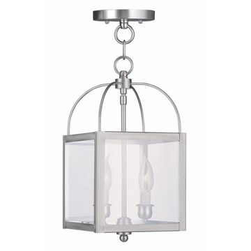 Livex Lighting-4041-91-Milford - Two Light Convertible Flush Mount