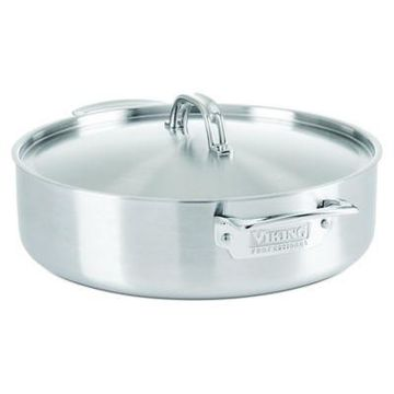 Viking Professional 6.4 qt. 5-Ply Stainless Steel Covered Casserole