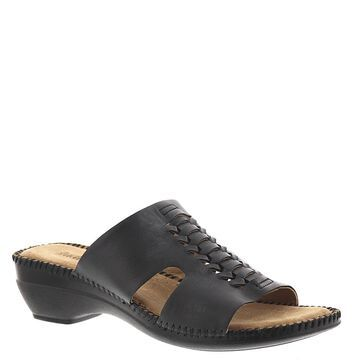 Auditions Rhonda Women's Black Sandal 6 W