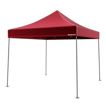 Stalwart 10' x 10' Outdoor Instant Canopy (Red)