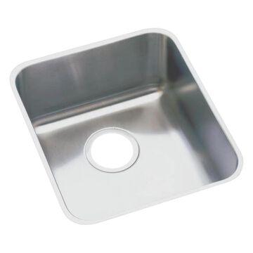 Elkay Lustertone Undermount 18.5-in x 18.5-in Lustertone Single Bowl Kitchen Sink Stainless Steel   ELUHAD161645