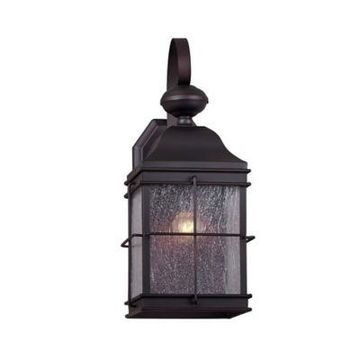 Filament Design 1-Light Antique Outdoor Wall Lantern in Antique Bronze