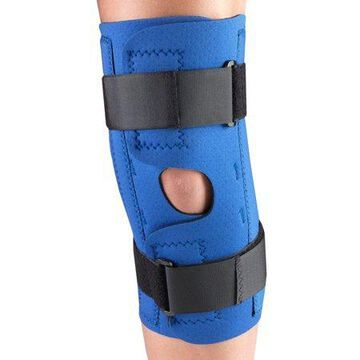 OTC Neoprene Knee Stabilizer Wrap - Spiral Stays, Blue, Large
