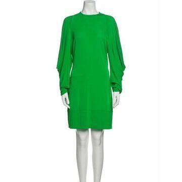 Crew Neck Mini Dress w/ Tags Green