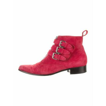 Suede Boots Red