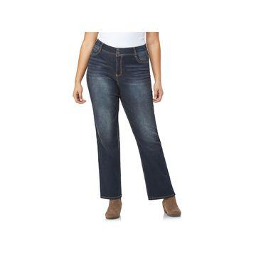 Wallflower-Juniors Womens Mid Rise Curvy Fit Bootcut Jean