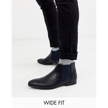 Truffle Collection wide fit chelsea boot in black