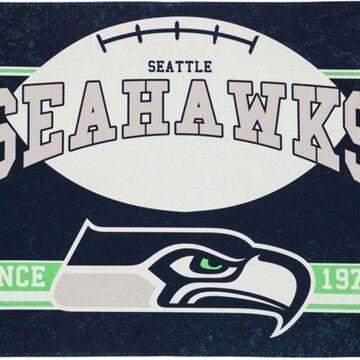 Evergreen Seattle Seahawks Linen Estate Flag
