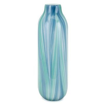 IMAX Home 15409 Rafia 18 Inch Tall Handcrafted Glass Vase