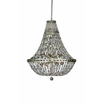Allegri 029953042 12 Light Pendant Lucia Vintage Silver Leaf - One Size (One Size - Clear)