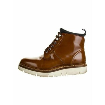 Oamc Leather Lace-Up Boots Brown Oamc Leather Lace-Up Boots
