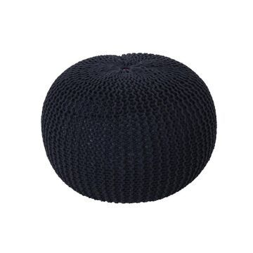 Abena Knitted Cotton Pouf - Christopher Knight Home