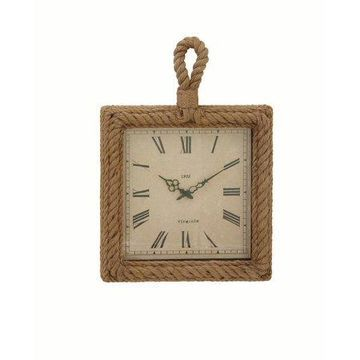 Decmode Distinctive Wood Rope Wall Clock