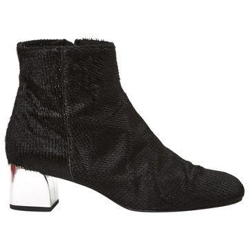 Castaner Black Leather Ankle boots