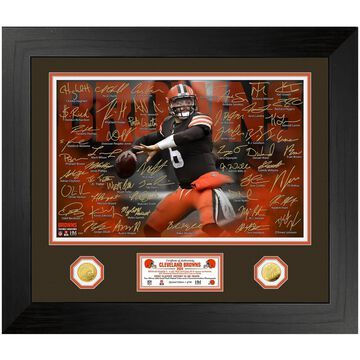 Highland Mint Baker Mayfield Cleveland Browns 24'' x 28'' Special Edition Gold Coin Photo Mint