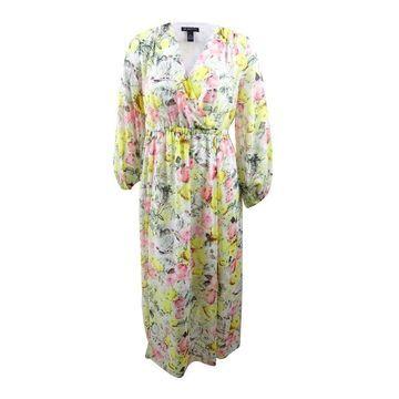 INC International Concepts Women's Plus Printed Maxi Dress - Mixed Floral