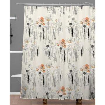Deny Designs Iveta Abolina Coral Watercress Pond Shower Curtain Bedding