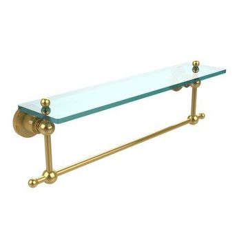 Allied Brass Astor Place Glass Vanity Shelf with Integrated Towel Bar