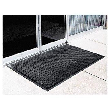 Crown Crown-Tred Indoor/Outdoor Scraper Mat, Rubber, 35 1/2 x 59 1/2, Black