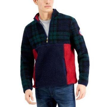 Club Room Men's Half-Zip Colorblocked Fleece Pullover