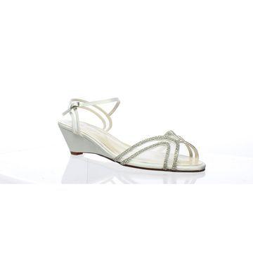 Caparros Womens Hilton White Open Toe Heels Size 12