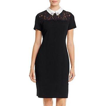 Karl Lagerfeld Paris Lace-Yoke Dress