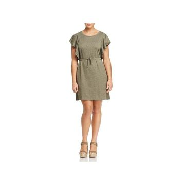 Junarose Womens Plus Emmy Casual Dress Mini Belted