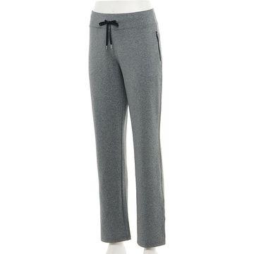 Women's Tek Gear Performance French Terry Pants, Size: Medium, Dark Grey