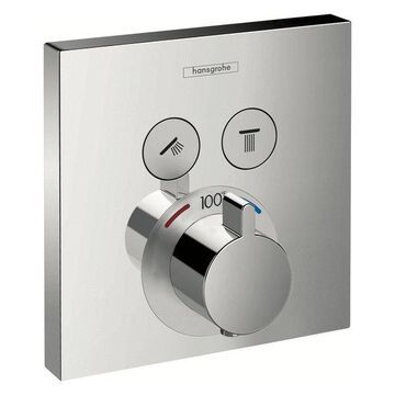 Hansgrohe 15763 ShowerSelect E Thermostatic 2 Function Trim, Chrome
