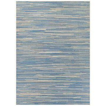 """Couristan Monaco Alassio Sand-Azure-Turquoise 2'3"""" x 7'10"""" Indoor/Outdoor Runner Rug"""