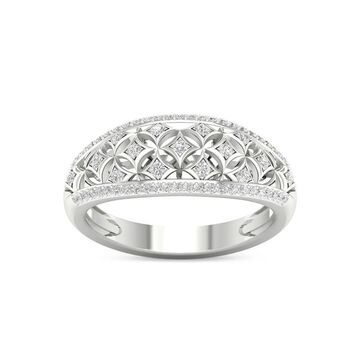De Couer IGI Certified 10k White Gold 1/5ct TDW Diamond Fashion Ring - White H-I - White H-I (7)