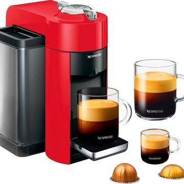 Nespresso - Vertuo Coffee Maker and Espresso Machine by DeLonghi - Shiny Red