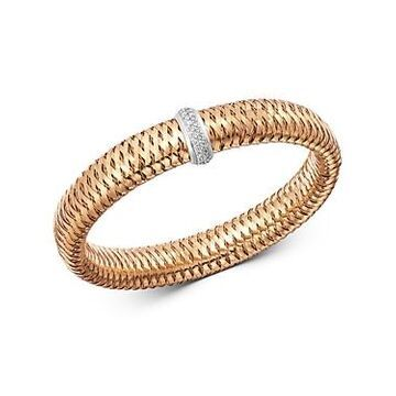 Roberto Coin 18K Rose & White Gold Primavera Large Diamond Flexible Bangle Bracelet