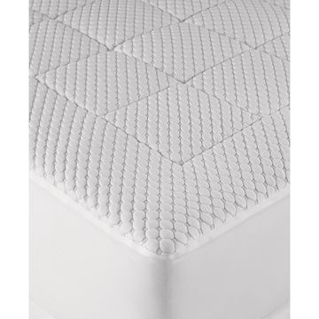 Dream Science Washable Memory Foam Queen Mattress Pad by Martha Stewart Collection, Created for Macy's