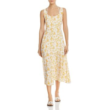 L Space Womens Summer Jams Printed Button Down Dress Swim Cover-Up